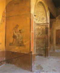 Фото Фреска с изображением Менандра Помпеи